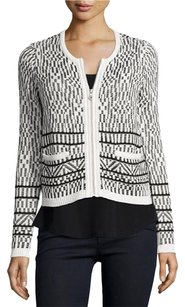 Joie Jacolyn Jacquard Tweet Sweater Black Jacket