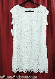 Joie short dress White Crochet Cotton Style on Tradesy