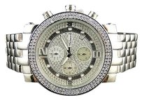 JoJino Mens Jojojojinojoe Rodeo Silver Metal Genuine Real Diamond Watch Mj-1054a