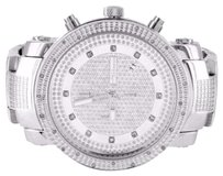 JoJino Stainless Steel Watch For Men Silver Diamond Accented Bezel Jojino Big