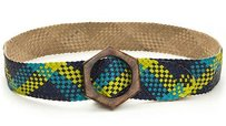 Jonathan Adler Jonathan Adler Leather Woven Belt Orange