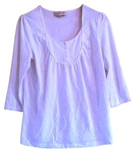 Jones New York Button Front Top White