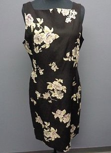 Jones New York Floral Print Sheath Sm752 Dress