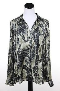 Jones New York Womens Taupe Top Multi-Color