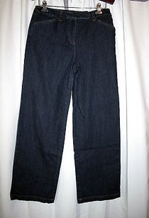 Jones New York Signature Dark Trouser/Wide Leg Jeans
