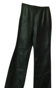 Jones Wear Leather Side Zipper Straight Pants Black