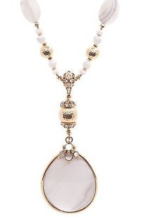Jose & Maria Barrera Barrera Gold-tone Mother Of Pearl Statement Pendant Necklace