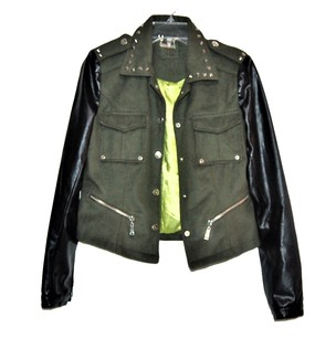 Jou Jou Sexy Moto Leather Faux Leather Motorcycle Jacket
