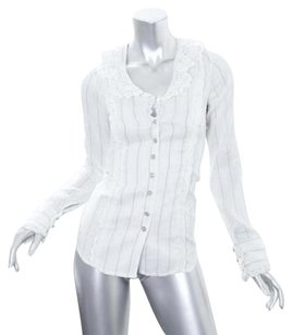 Jovovich-Hawk for Target Womens Cotton Silk Top White