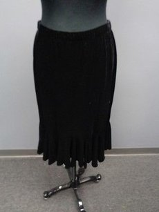 JS Collections Poly Skirt Black