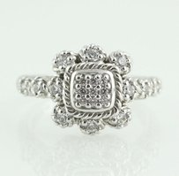 Judith Ripka Judith Ripka Cubic Zirconia Cocktail Ring - Sterling Silver Estate Fashion Dew