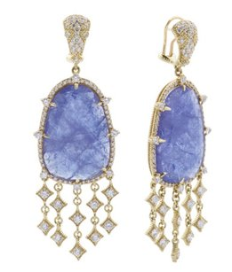 Judith Ripka New Judith Ripka 18k Gold Tanzanite And Diamond Earrings