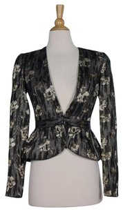 Juicy Couture Bird By Juicy Couture Womens Black Floral Blazer Long Sleeve