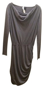 Juicy Couture short dress Grey Cowl Neck Half Sleeve Empire Waist Ruching Gathered on Tradesy
