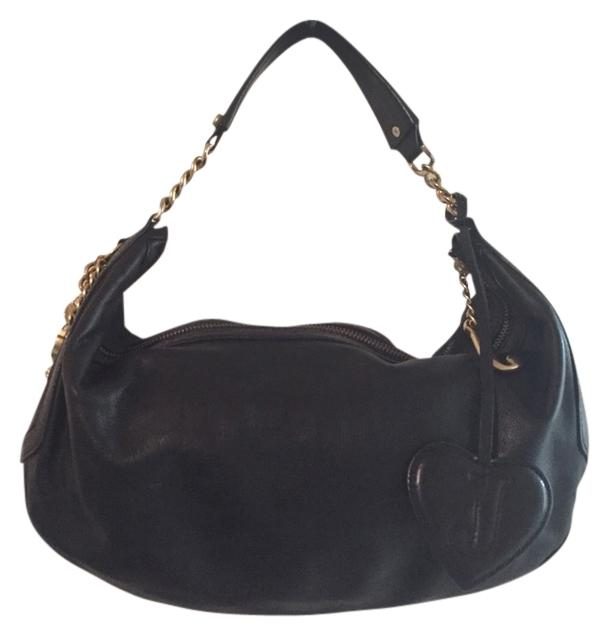 Juicy Couture Black Leather Hobo Bag | Hobos on Sale