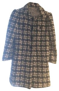 Juicy Couture Houndstooth Trench Pea Coat