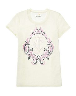 Juicy Couture Angel Cameo T Shirt Ivory
