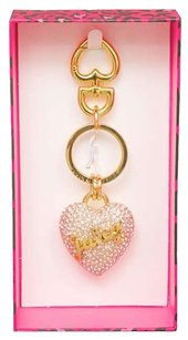 Juicy Couture Juicy Couture Crystal Pave Heart Key Fob