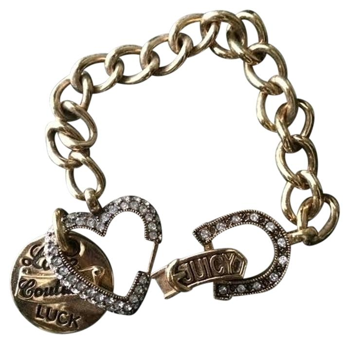 juicy couture gold charm bracelet tradesy