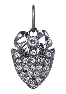 Juicy Couture Juicy Couture Mini Pave Shield & Bow Charm Gunmetal YJRU5969