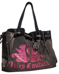 Juicy Couture Juicy Daydreamer Tote in Dark Heather Grey