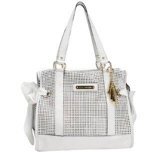 Juicy Couture Leather Perforated Tote in White
