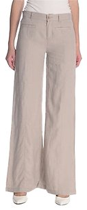 Juicy Couture Light Linen Relaxed Pants Beige