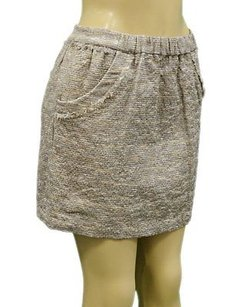 Juicy Couture Bird By Mini Skirt Beige Bronze silver