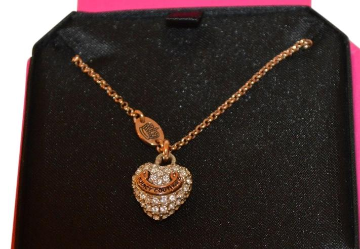 Juicy Couture Rose Gold Banner Heart Necklace Tradesy
