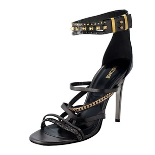 Just Cavalli Ankle Strap Dark Gray Sandals