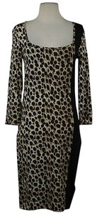 Just Cavalli Womens Animal Print Stretchy 34 Sleeve Sheath Dress