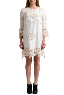 Just Cavalli short dress Cream Shift on Tradesy