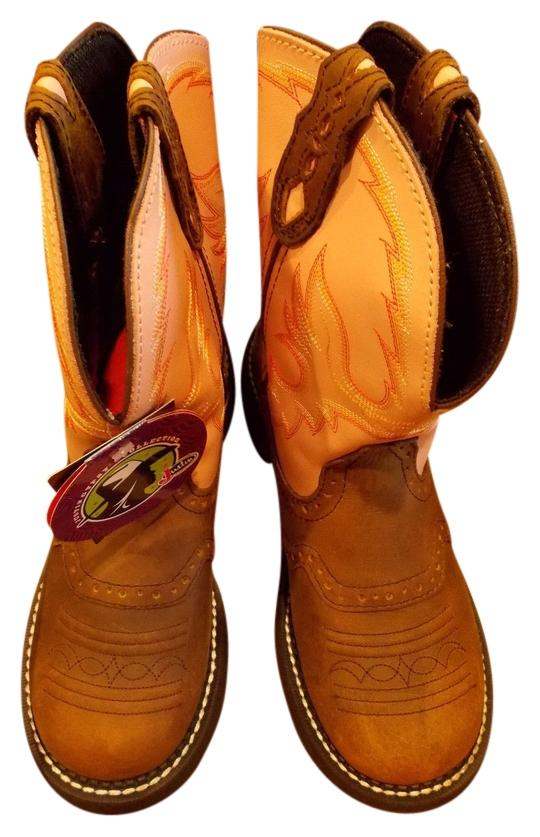 justin boots new in box collection j flex brown and