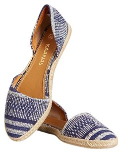 KAANAS Blue and White Flats