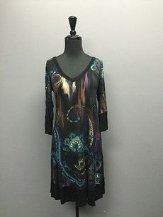 Karen Kane short dress Multi-Color Graphic V Neck 34 Sleeve Knee Length Sma12108 on Tradesy