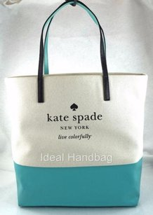 Kate Spade Bon Basin View Off White Tote in Blue