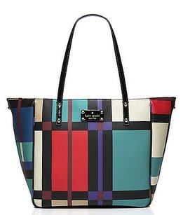 Kate Spade Perry Street Plaid Tote in Multi-Color