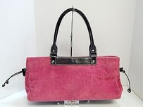 Kate Spade Rose Corduroy Leather East West Tote in Pink