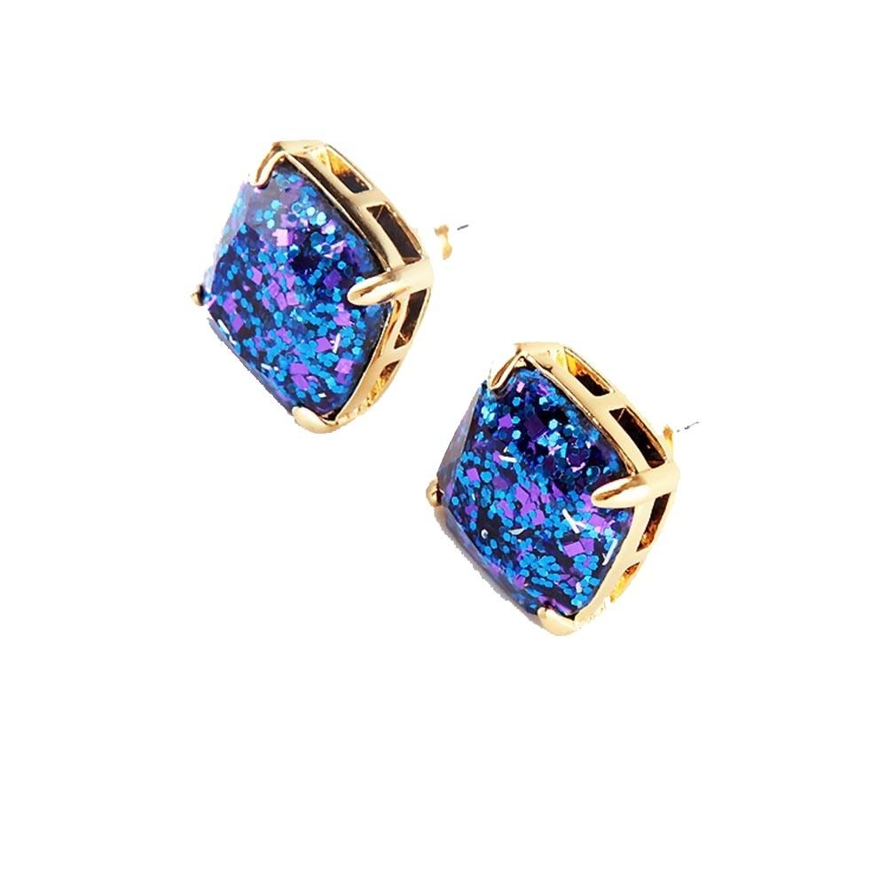 Kate Spade Blue New York Multi Square Stud Earrings Tradesy