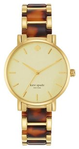 Kate Spade New York Gramercy Tortoise and Gold-Tone Ladies Watch