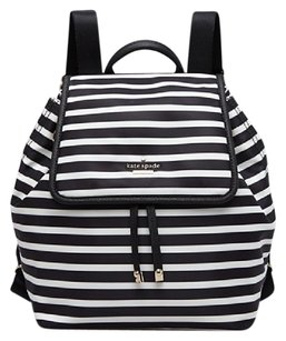 Kate Spade Nylon Leather Black White New With Tags Backpack
