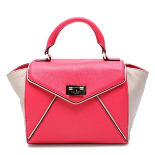 Kate Spade Red Satchel in Desert Rose and Beige