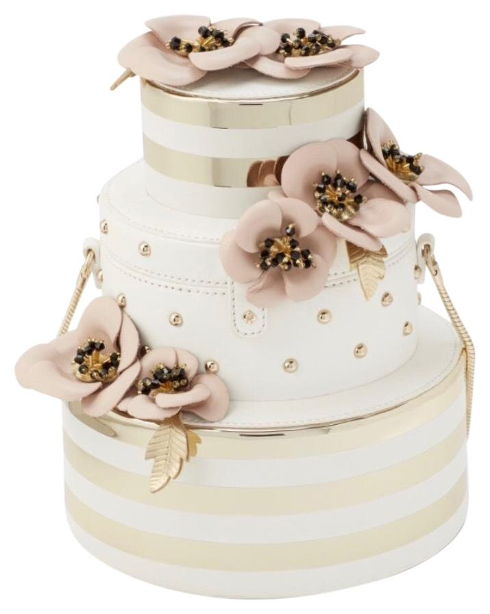 wedding cake bags for guests australia kate spade wedding belles floral wedding cake white gold 21780