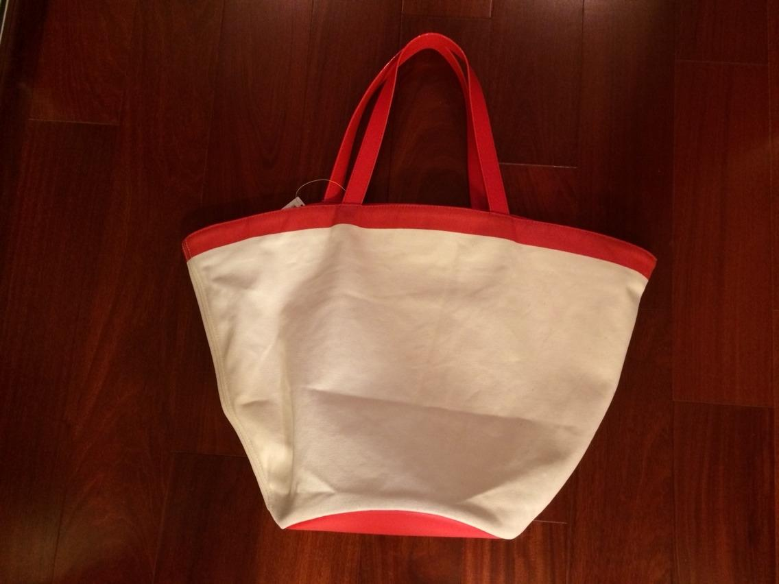 Kate Spade Round Leather And Canvas Beach Nwt Red Beach Bag on ...