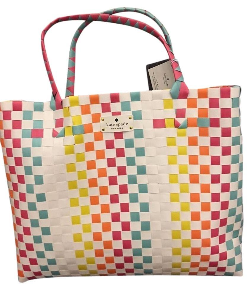 Kate Spade X-large Tote Beach New! Multi Color Beach Bag ...