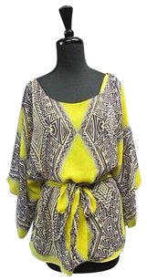 Kay Celine Yellow Sleeves Top Yellow/Black