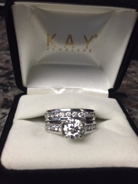 Kay Jewelers 14k White Gold 1 7/8 Ct Tw Womenu0027s Wedding Band Set