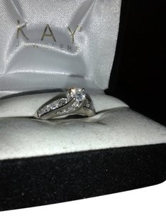 Kay Jewelers 1 HOUR SALE! Spectacular 14K White Gold Diamond Ring