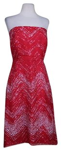 Kay Unger Womens Sheath Silk Formal Above Knee Strapless Dress