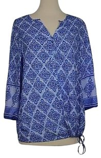Kenar Womens Printed Blouse Shirt Rayon Tunic